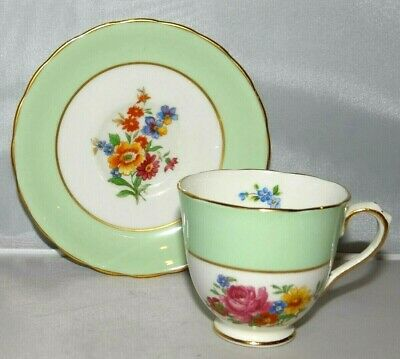New Chelsea Staffs English Bone China Floral Flowers Tea Cup & Saucer Teacup