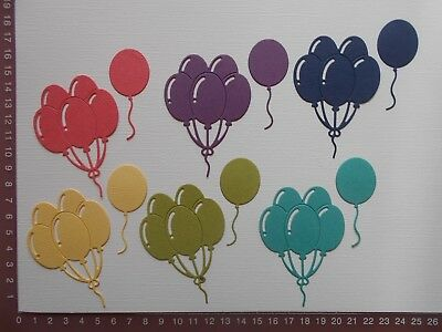 Die cuts - Balloons x 12, Mixed colours, Bazzill Cardstock, Birthday Party