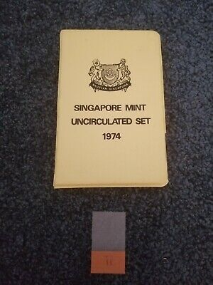 Singapore 1974 Mint Set in Wallet - Year of the Tiger - UNC Uncirculated - ii