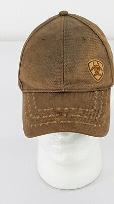 33875b61f ARIAT MEN'S BROWN and Gold Oilskin Ball Cap - $20.89 | PicClick