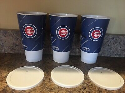 Chicago Cubs Wrigley Field 2019 Baez Bryant Rizzo Souvenir Cups, Lot of 3