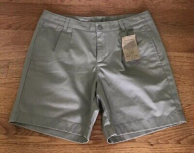Lands' End Kids School Pleated Front Chino Shorts Khaki NWT tan NEW SIZE US 16