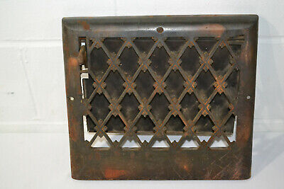Antique Cast Iron Metal Grate Vent Wall Register Cover Heating