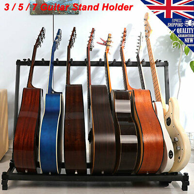 Guitar Stand 3/5/7 Holder Folding Display Rack Stand Stage Acoustic Guitar