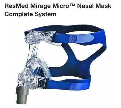 ResMed Mirage Micro Nasal Mask Headgear Size SLM SML Complete System NEW SEALED