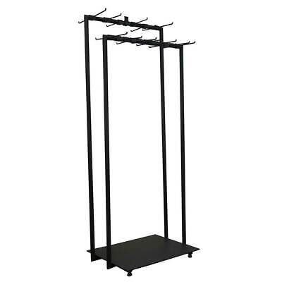 Shop Fit Out Metal Clothing & Jacket Hanger Clothes Rail Stand Square Frame