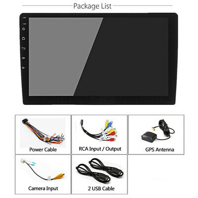 "Adjustable Height 1Din Android 8.1 Touch Screen 4-Core 10.1""Car Stereo Radio GPS"