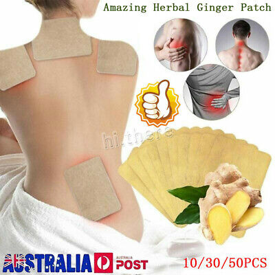 10/30/50X Amazing Natural Herbal Ginger Patch Wholesale Medicine Pain Relief Bo