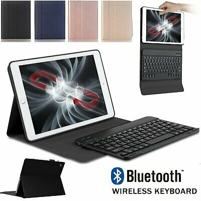 New Bluetooth Keyboard+Leather Case For iPad 5/6th  9.7 inch Pro 2018 Air 1/2