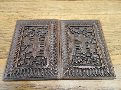 Asian/Oriental Exquisite Hand Carved Wooden Card Case (Magic)