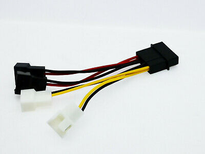 1pcs 4-Pin Molex to 3-Pin fan Power Splitter Cable Adapter Connector 10cm
