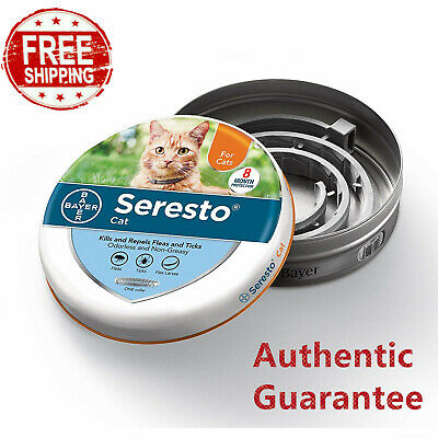Bayer Seresto Flea & Tick 8 Months Collar for Cats protecting health for 8 month