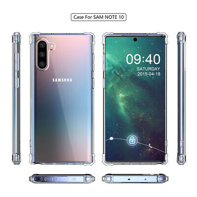 New Shockproof Soft Silicone TPU Clear Case Cover For Samsung Galaxy Note 10 Pro