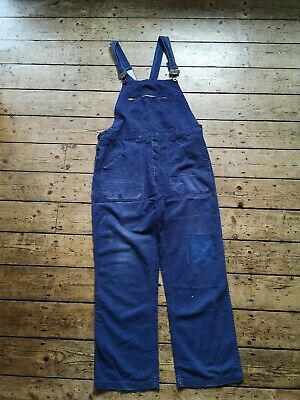 Vintage boilersuit medium original blue jumpsuit boho retro womens festival