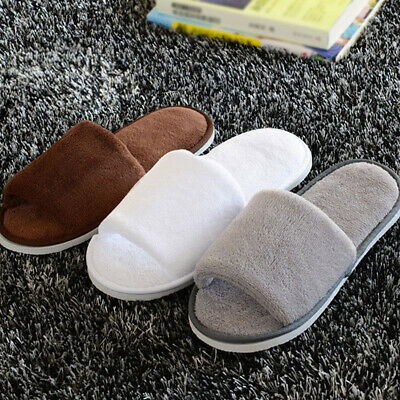 White Terry Towelling Spa Slippers Mens Womens Hotel Wedding Open Toe Shoes