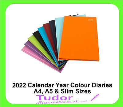 2020 Diary A5 A4 Slim Week to View Day a Page Calendar Year - 9 Colour Choice