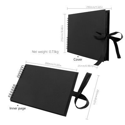 40 Pages Photo Album Memo Book Paste DIY Scrapbook Valentines Day Wedding Gifts