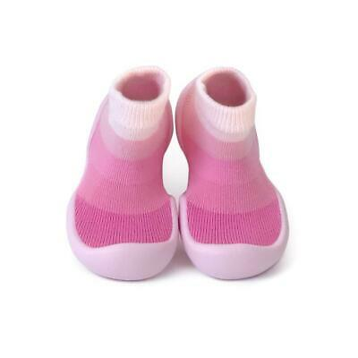 Sock OnsPink Love Ring Step Ons Crawling, Pre-Walker Baby Sock Shoe 12-18 Mths