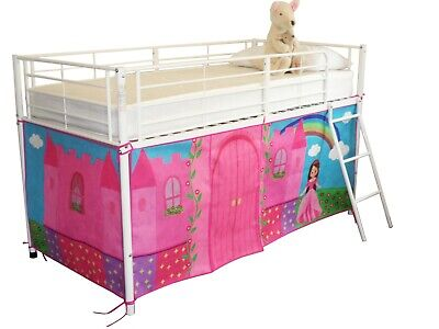 Midsleeper Tent for Cabin Bed, Mid sleeper Princess Fairytale Castle