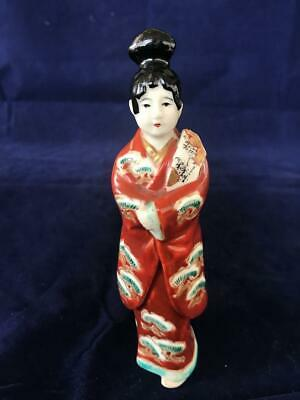 Fine Antique Japanese Porcelain Hand Painted Geisha Figurine.