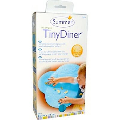 Tiny Diner Portable Placemat, Blue, 1 Mat  by Summer Infant