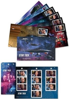 2017 Star Trek Year 2 First Day Covers & Stamp Booklet