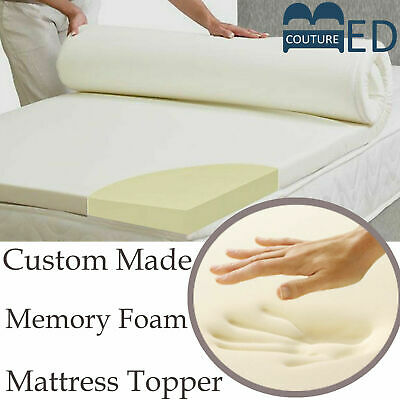 Lavish 100% Memory Foam Mattress Topper + All Sizes,Depths & Cover Options