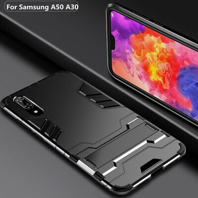 For Samsung Galaxy A70 Case A50 A30 A20 Hybrid Rubber Rugged Stand Bumper Cover