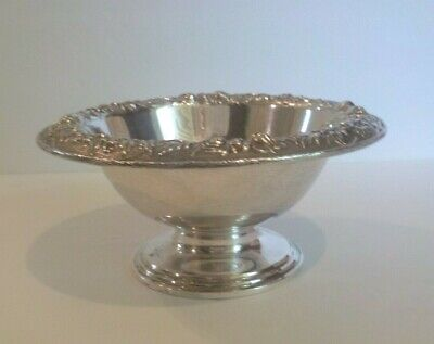 """Kirk REPOUSSE Solid Sterling Silver 6.25"""" Pedestal Bowl # 214A, 200 Grams"""