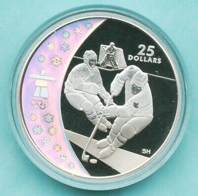 Canada 25 dollars Ice Hockey 2010 Winter Olympics Vancouver silver proof 2007
