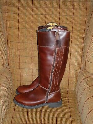 d0485b82741 LADIES BROWN LEATHER Knee High Riding Country Boots Catesby Blenheim ...