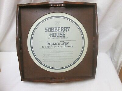 Sudberry House Square Tray To Display Your Needlework Q-1700