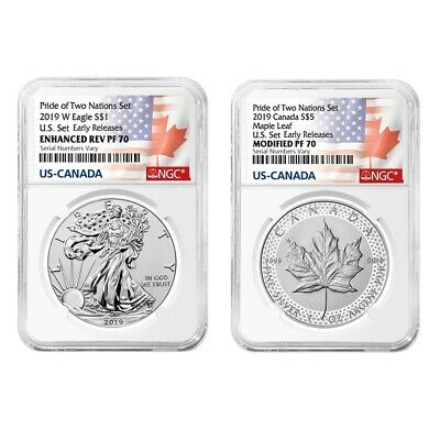 2019 Pride of Two Nations 2-Coin Set NGC PF 70 ER (Two Flags Label)