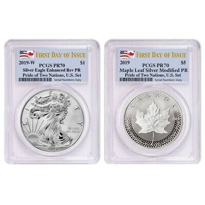 2019 Pride of Two Nations 2-Coin Set PCGS PF 70 FDOI