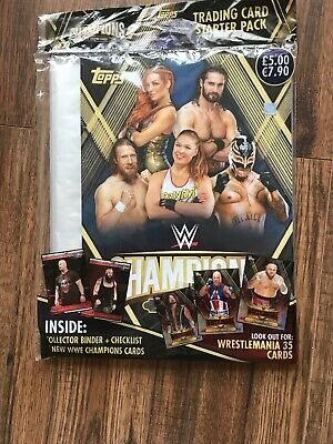 Topps Wwe Champions 2019 Trading Card Starter Pack=Binder + Check List + 9 Cards