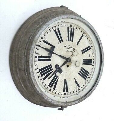 Antique Vintage Industrial Wall Clock Rail Station Clock Turn of the Century