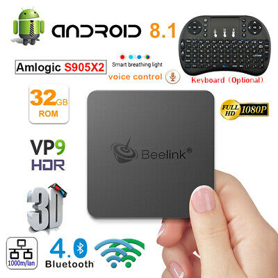 Lot Beelink GT1 MINI TV Box 32GB  Voice Remote Dual WiFi Android Player+Keyboard