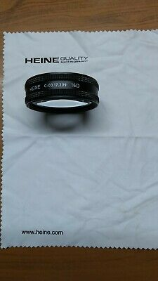 Heine 16D lens ophthalmology lens with lens cloth for indirect ophthalmology.