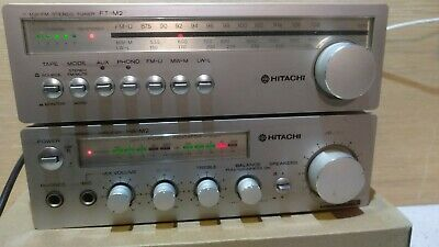 Hitachi HA-M2 and FT-M2 Stereo System- 1980s, made in Japan