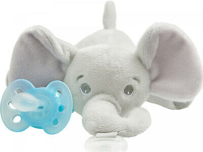 Avent Ultra Soft Snuggle Baby Pacifier 0 6 Months  Elephant
