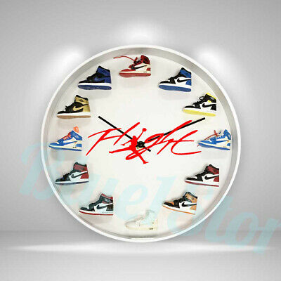 "New Handcrafted 12"" 3D Jordan Sneakers clock OFF white nike supreme fieg adidas"