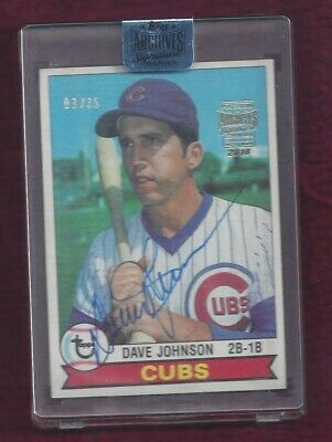 Dave Johnson 2018 Topps Archives Signature Series  Auto 3/35