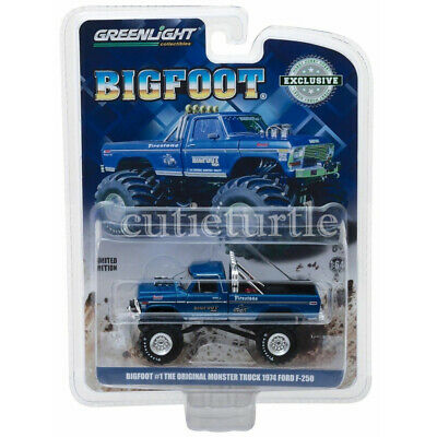 Greenlight 1974 Ford F-250 The Original Monster Truck Bigfoot #1 1:64 Blue 29934