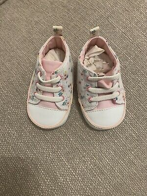 John lewis baby Floral Shoes 0-3 Months