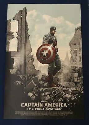 Mondo Captain America First Avenger SDCC By Rory Kurtz Art Print Poster Rare