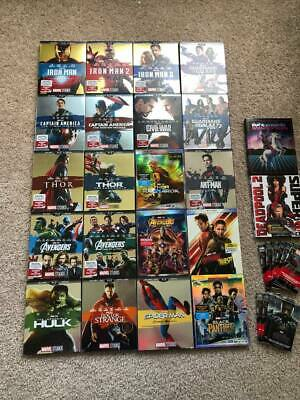 Complete Marvel Movie Collection With All Slipcovers (Blu-Ray) w/ Endgame 4K UHD