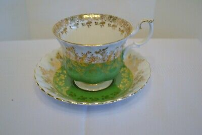 Royal Albert Tea Cup & Saucer,Regal Series  Green