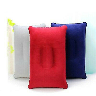 Inflatable Pillow Travel Air Cushion Camp Beach Car Plane Bed Sleep Head Rest Ap