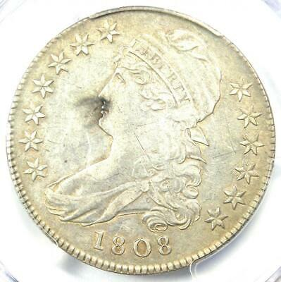 1808 Capped Bust Half Dollar 50C - Certified PCGS AU Details - Rare Coin!