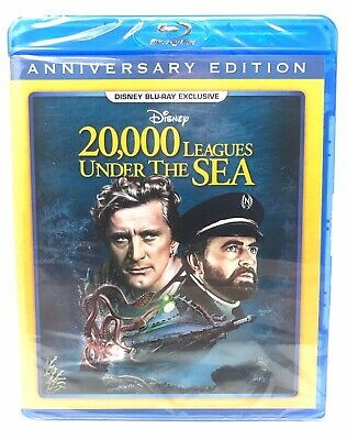 20,000 Leagues Under the Sea Disney Exclusive Blu-Ray Anniversary SEALED 20000
